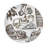 Italy Famous Landscape Travel Places Pattern Dessert Plate Decorative Porcelain 8 inch Dinner Home