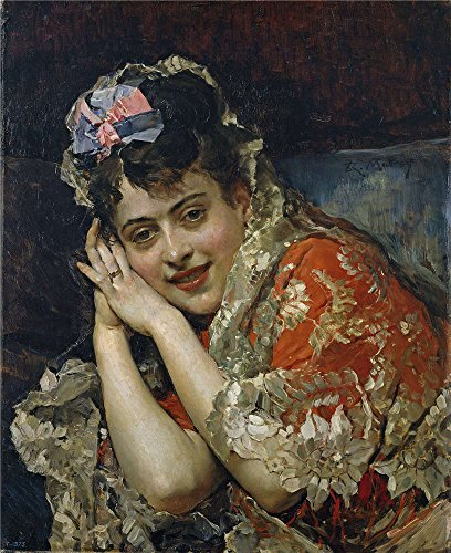 [The Perfect Effect Canvas Of Oil Painting 'Madrazo Y Garreta Raimundo De The Model Aline Masson With A White Mantilla Ca. 1875 ' ,size: 8 X 10 Inch / 20 X 25 Cm ,this Cheap But High Quality Art Decorative Art Decorative Canvas Prints Is Fit For Living Room Decoration And Home Artwork And] (Russian Spy Costume Female)
