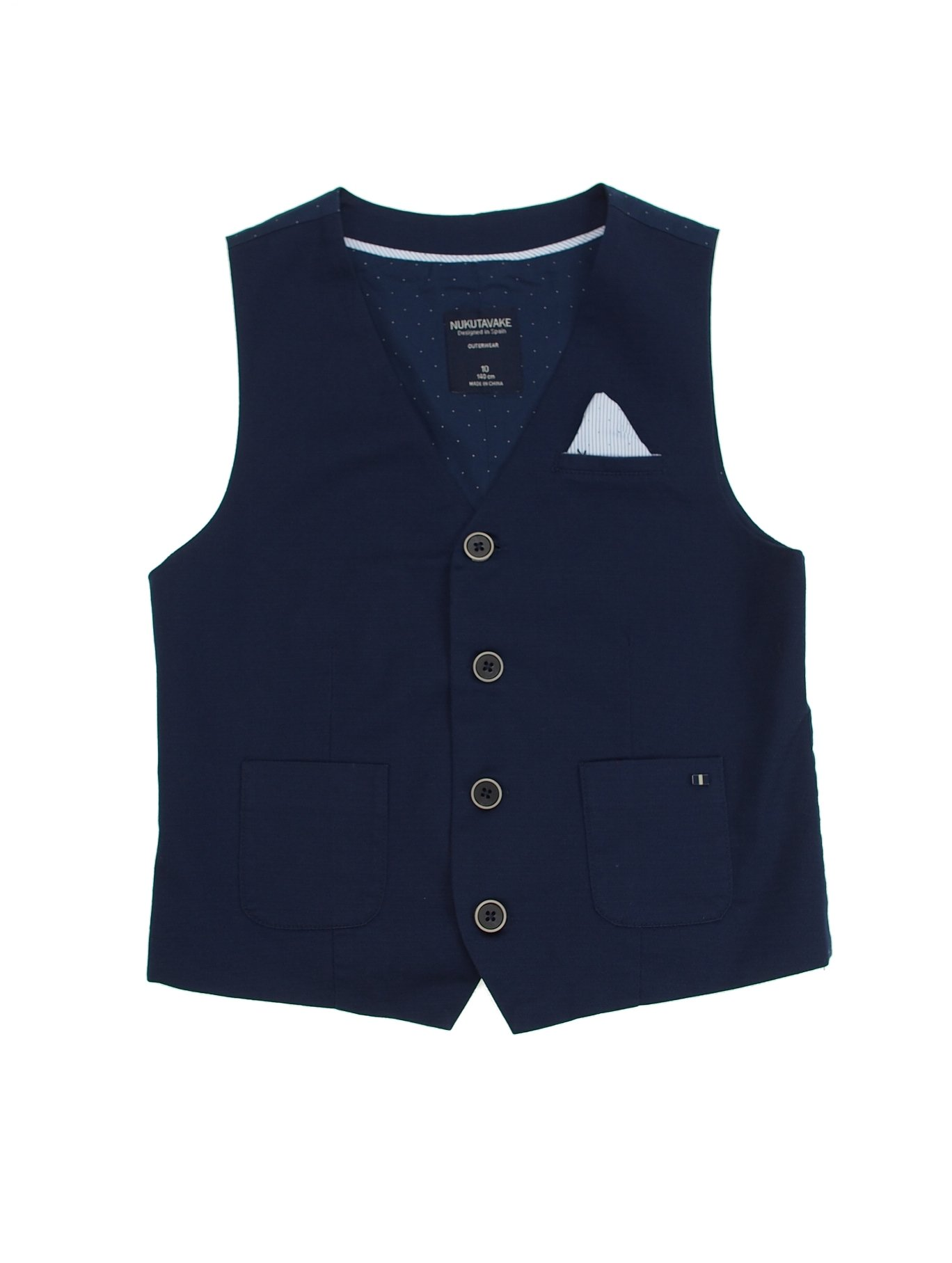 Mayoral 28-06438-089 - Flat Stretchy Vest for Boys 10 Years Blue