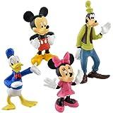 Disney Mickey & Friends Cake Toppers/Figurine ~ Mickey, Minnie, Donald & Goofy