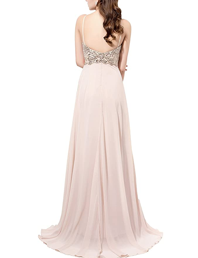Amazon.com: LovingDress Women\'s Prom Dresses Chiffon with Straps ...