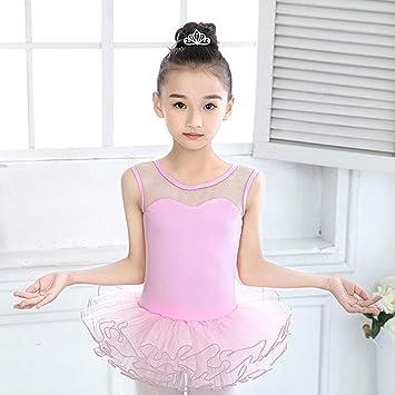 MARXHOT Niñas Rosa Princesa sin Mangas Ballet Danza Trajes Leotard ...