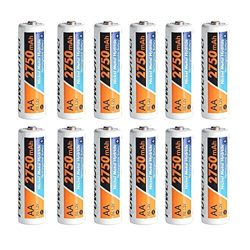 PowerDriver 12 Packs 2750mAh Aa Rechargeable NiMH Ni-MH Batteries Toy Car - Toy Headlight