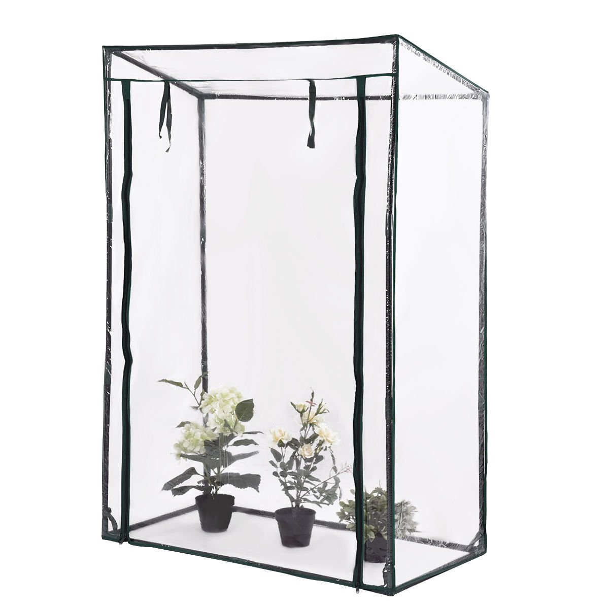 totoshop Garden Greenhouse Grow House Plant Vegetable Growbag W/PVC Cover 40''x20''x59''