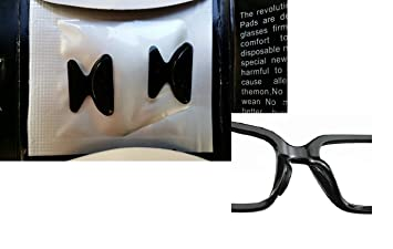 0855692b7 AM Landen 2.5mm 2 Pairs Black Non-slip Silicone Nose Pads for Eyeglasses