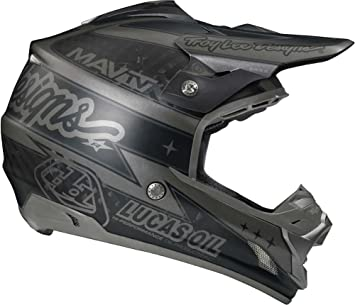 Troy Lee Designs Team SE3 MotoX - Casco de moto, color negro mate