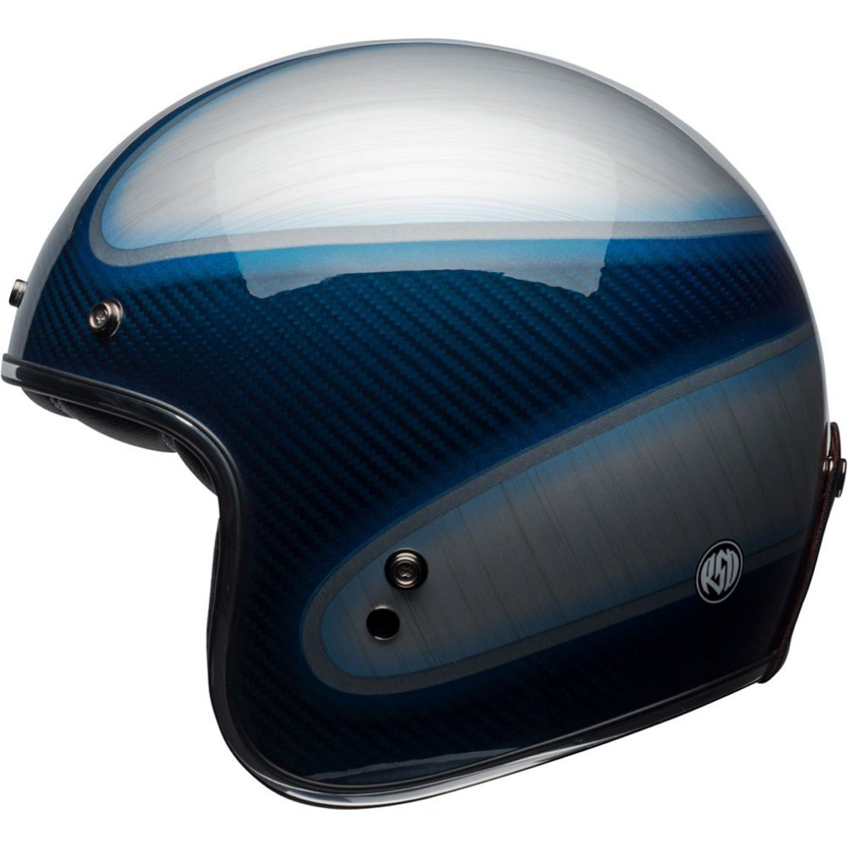 Bell Custom 500 Carbon RSD Jagger Open-Face Motorcycle Helmet (Candy Blue, Small) by Bell (Image #1)