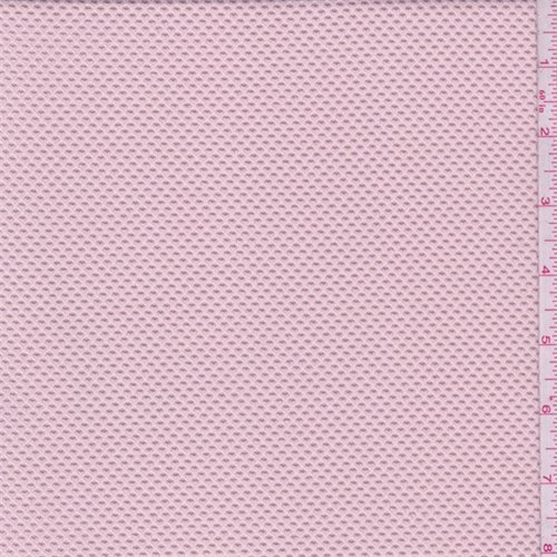 Soft Pink Pique Double Knit, Fabric By the Yard - Pique Knit Fabric