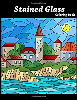 Stained Glass Coloring Book Art Nouveau For Adults Kids