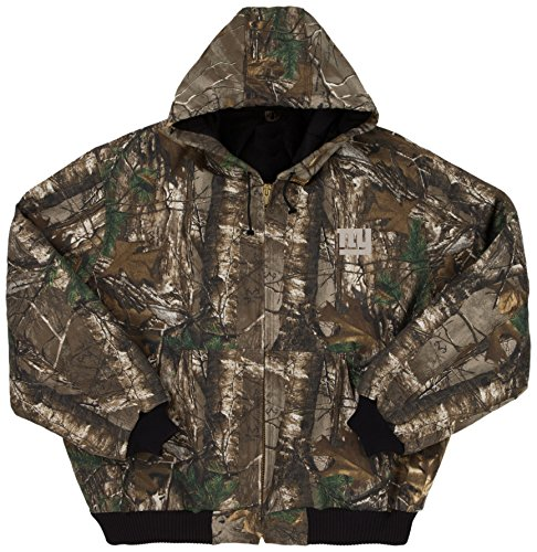 NFL New York Giants The Camo Canvas Quilt Lined Hooded Jacket, Real Tree Camouflage, X-Large (Giants Stadium Replica)