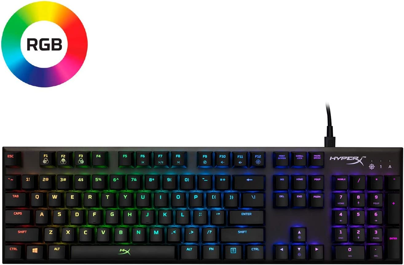 HyperX Alloy FPS RGB - Mechanical Gaming Keyboard - Controlled Light & Macro Customization - Silver Speed Switches - RGB LED backlit (HX-KB1SS2-US)