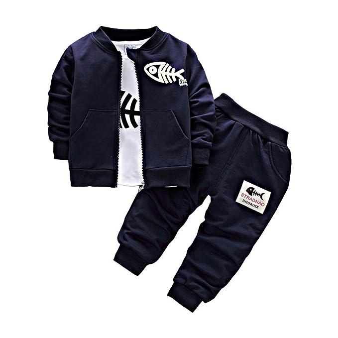 BINIDUCKLING Bebé Abrigo de niños+Pantalones + Camisas Conjuntos de ropa para niños Pequeños conjuntos