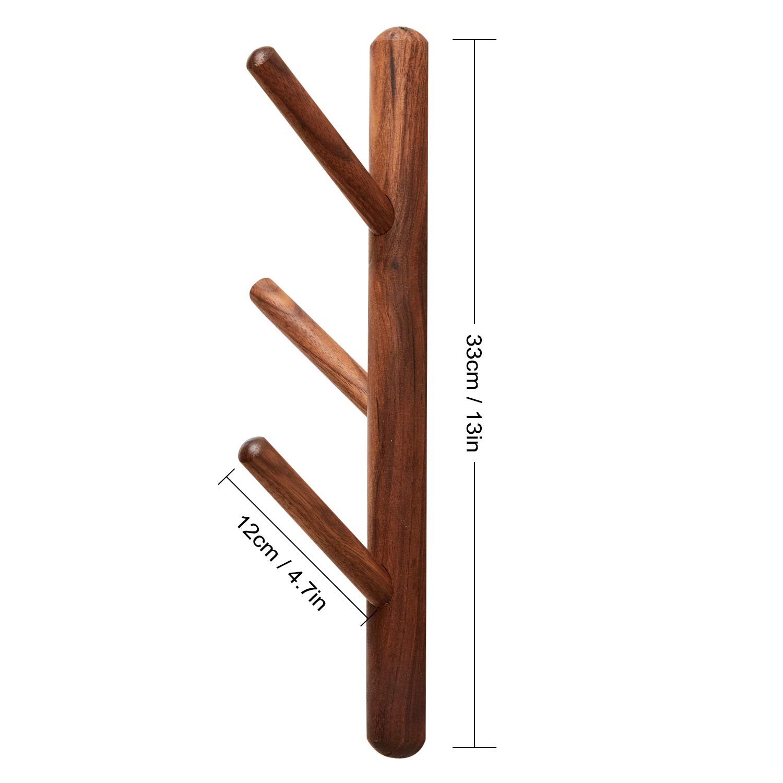 Amazon.com: YOYAI Perchero vertical de madera para colgar en ...
