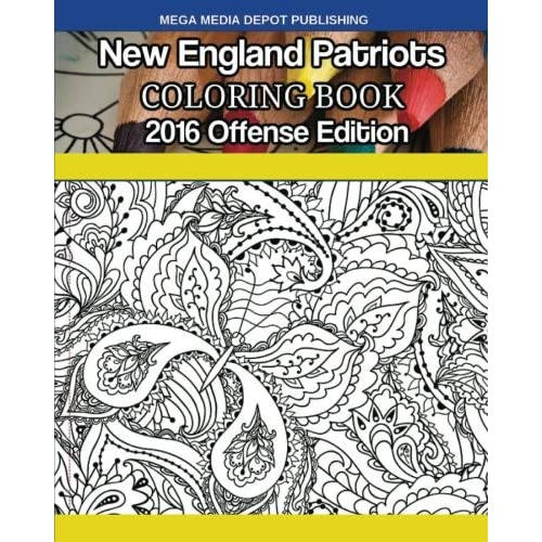 New England Patriots 2016 Offense Coloring Book (Paperback)