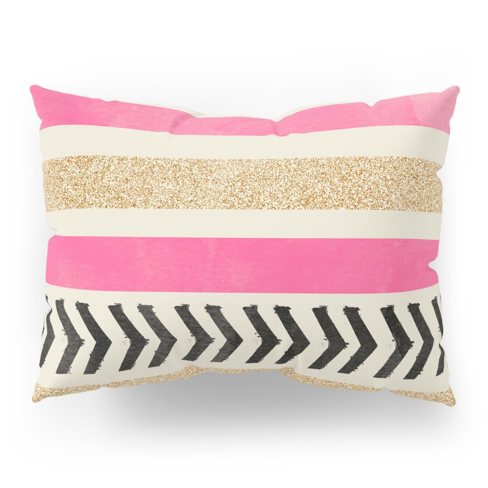 Society6 PINK AND GOLD STRIPES AND ARROWS Pillow Sham Standard (20'' x 26'') Set of 2
