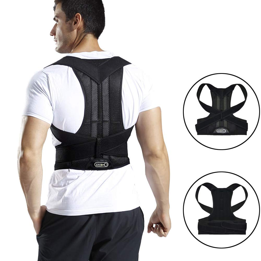 Full Back Support Brace with Removable Dorso-Lumbar Pad - Upper and Lower Back Pain Relief, Thoracic Kyphosis (XL) by brandless