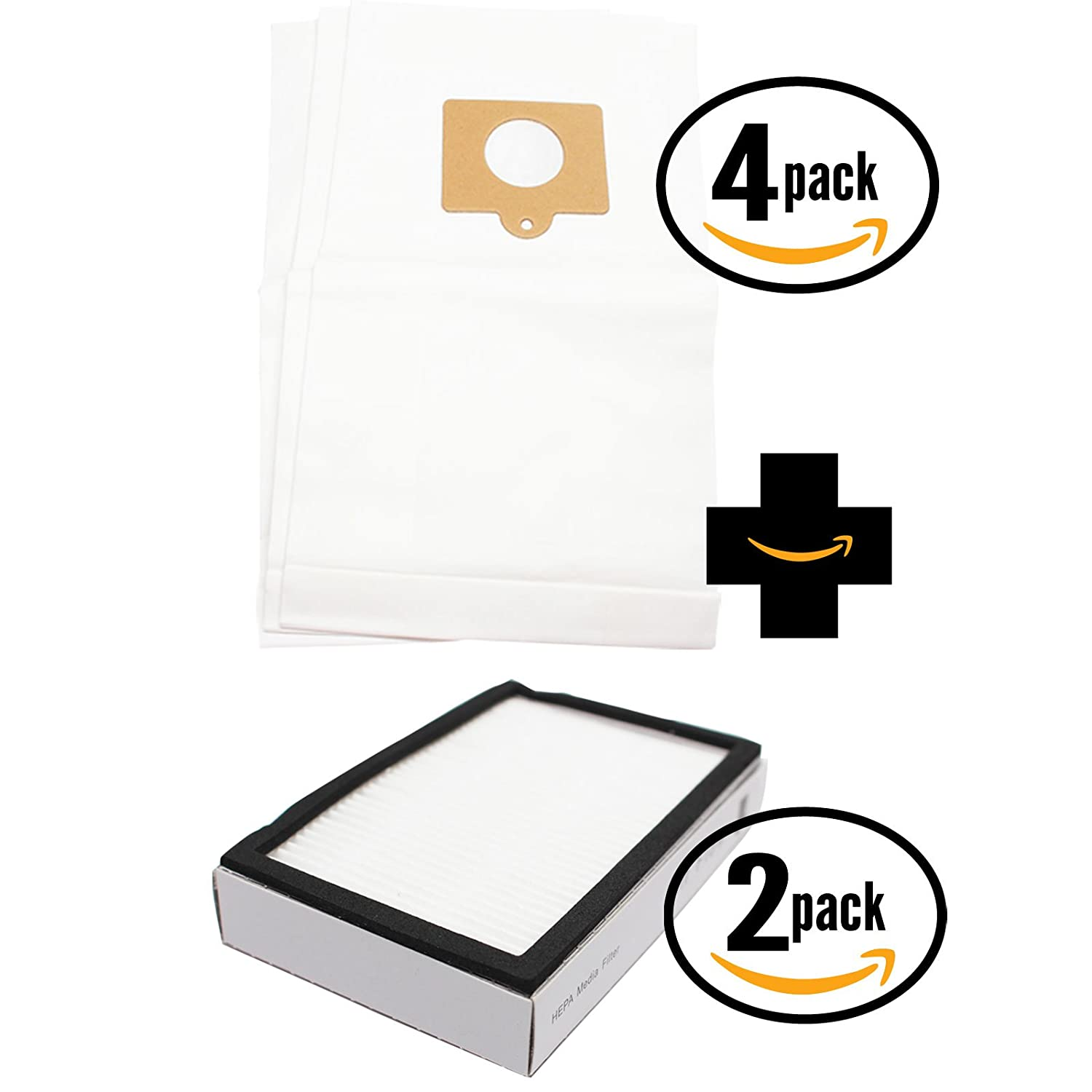 12 Replacement Panasonic MC-CG902-01 Vacuum Bags & 2 HEPA Filter - Compatible Panasonic C-5 Vacuum Bags & AC38KBRMZ000 Filter Upstart Battery