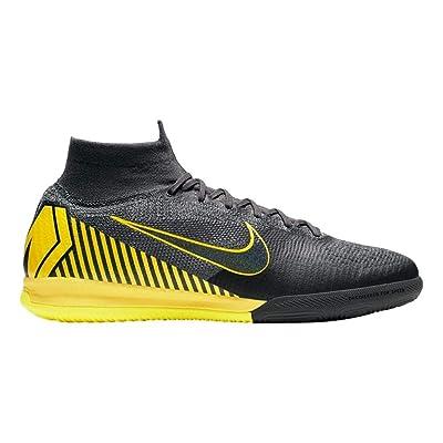 Nike Men's Superfly 6 Elite IC Soccer Shoes (Thunder Grey/Black/Dark Grey)   Soccer