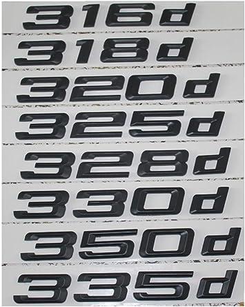 Gloss Black 330d Car Badge Emblem Model Numbers Letters For 3 Series E36 E46 E90 E91 E92 E93 F30 F31 F34 G20