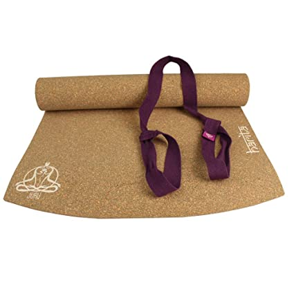 Amazon.com : JURU Harita Cork Yoga Mat (with Organic Cotton ...