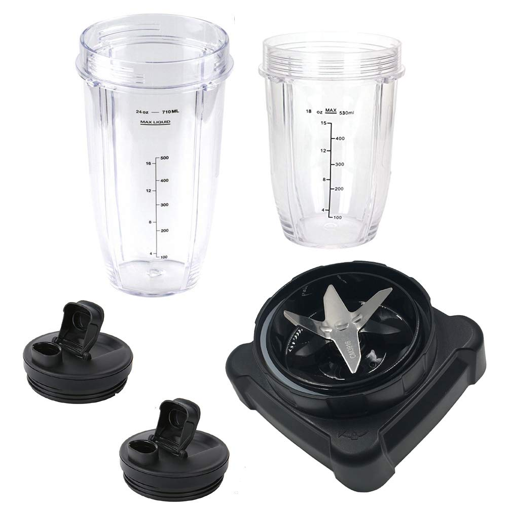 new style extractor blade for ninja blender with 18oz 24oz cup and spout lid for Ninja Ultima Blender BL810/BL820/BL830