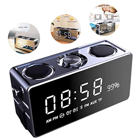 Reloj Despertador Digital Inalámbrico Bluetooth Radio FM Pantalla ...