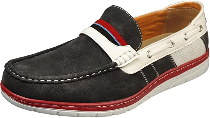 Athletic Slip On Boat Shoe Loafers