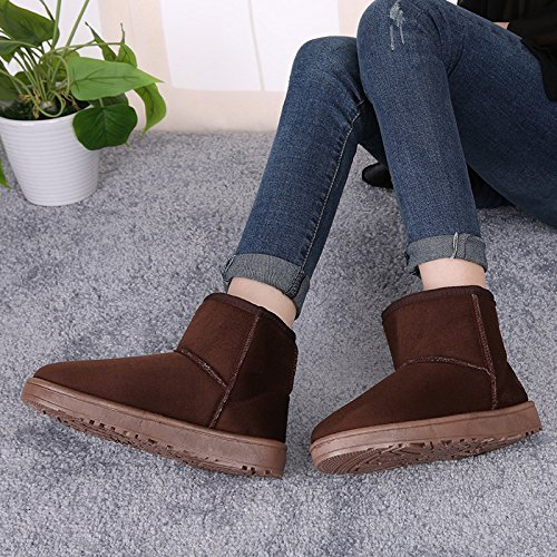 Women Brown Warm Boots Warm Women qwfzxX