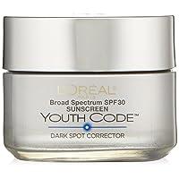 L'Oreal Paris Youth Code Dark Spot Corrector Facial Day Cream SPF 30, 1.7 Ounce