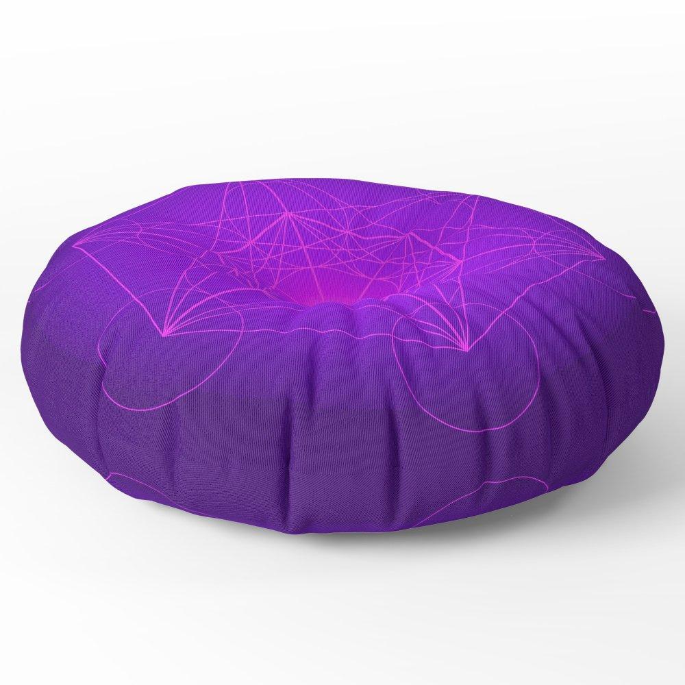 Society6 Metatron   Cube   Secret Geometry   Platonic   Matrix   Protects Children Floor Pillow Round 30'' x 30''