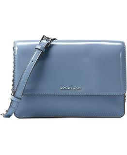 c7686b8b4d18 MICHAEL Michael Kors Daniela Large Crossbody Patent Leather Denim Blue