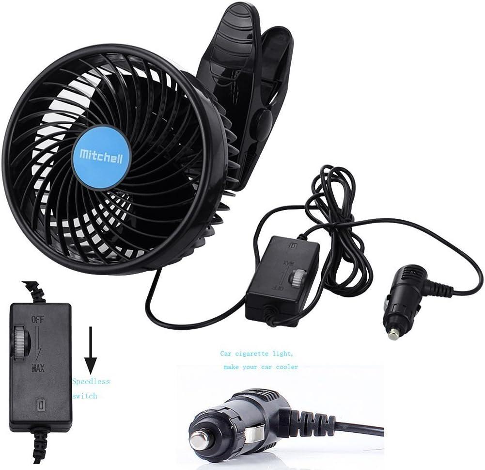 Jhua Clip Ventilator Kleiner Kraftvoller Beweglicher Tischventilator Fan Für Kinderwagen Auto Büro Laptop Outdoor Camping 12v Auto