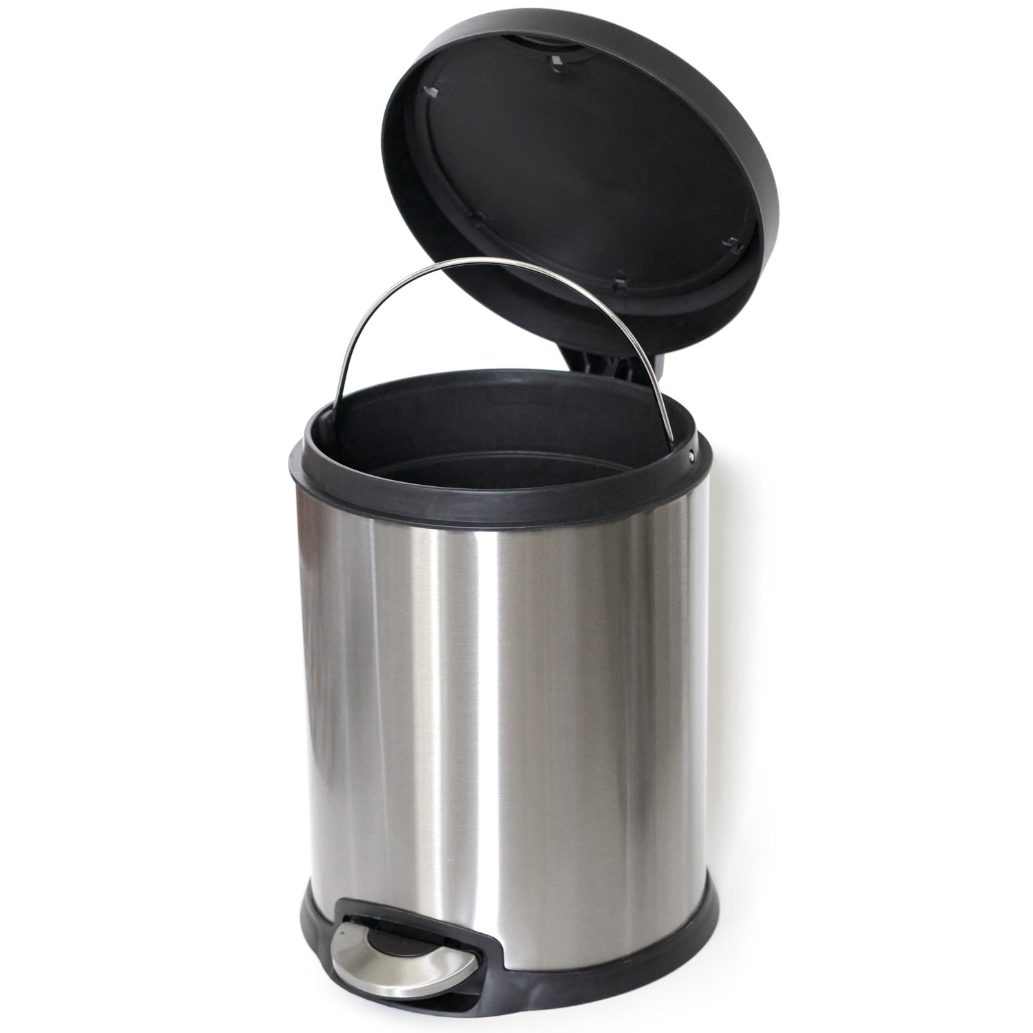 ToiletTree Products Stainless Steel Trash Can, 5 Liter by ToiletTree Products (Image #2)