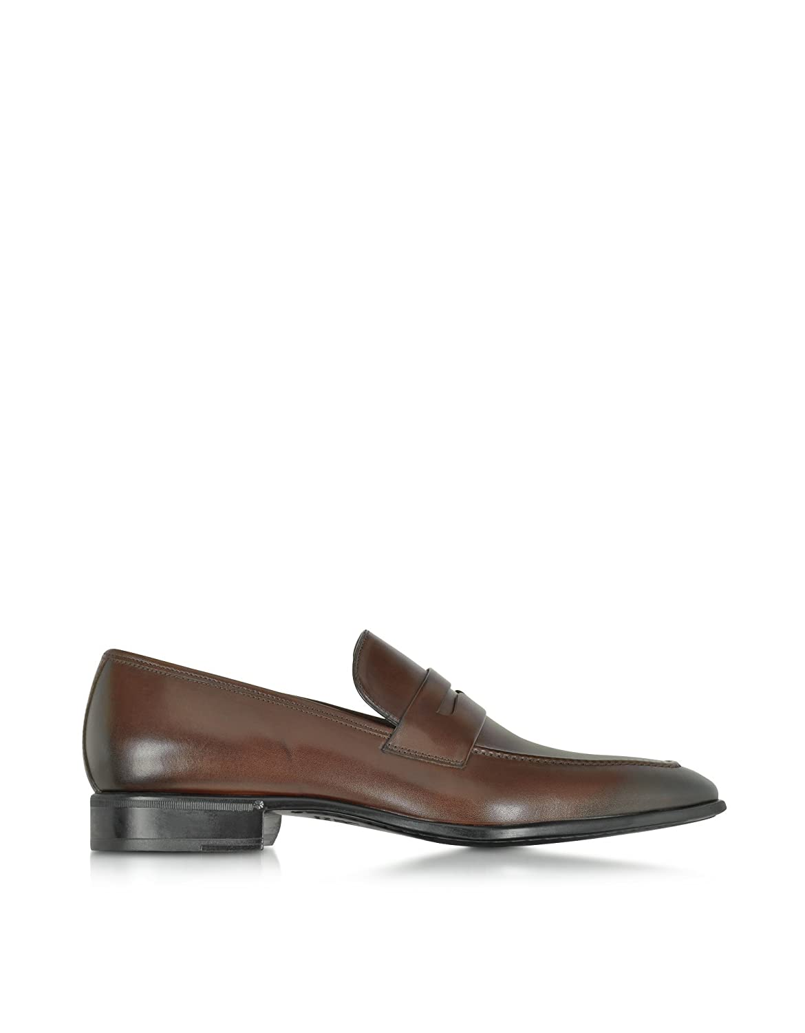 MORESCHI MEN'S 41335MQDARKBROWN BROWN LEATHER LOAFERS