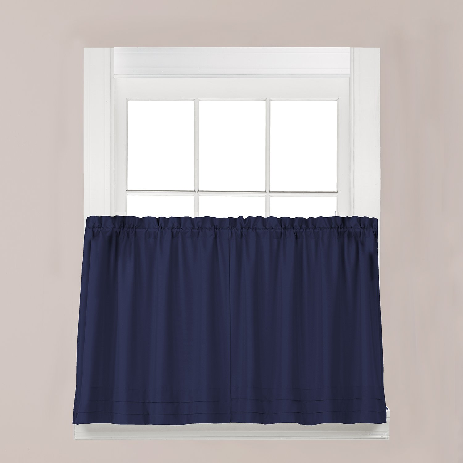 Holden Window Treatment Swag 57-Inch by 30-Inch, Navy, Set of 2 Saturday Knight Ltd P7005900030S09