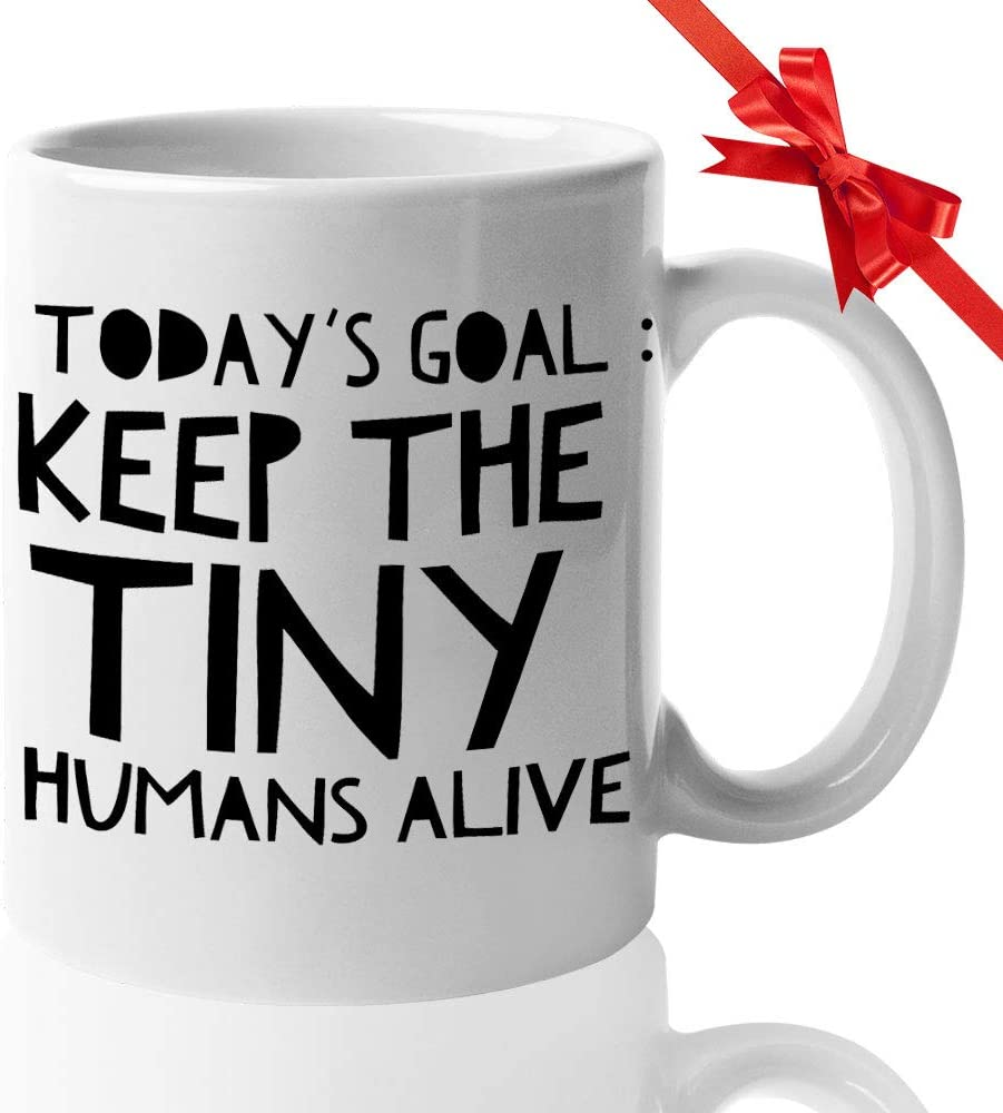 Pediatrician Doctor Mugs - Coffee Mug Thank Gifts for Women Pediatricians Doctors Physician - Office Pediatric Decor - Today's Goal: Keep The Tiny Humans Alive (White, 11 Oz)