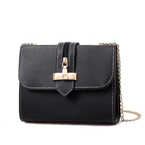 78eaaec462fd Amazon.com: Cujubag Women Leather Messenger Bags Chain Strap ...