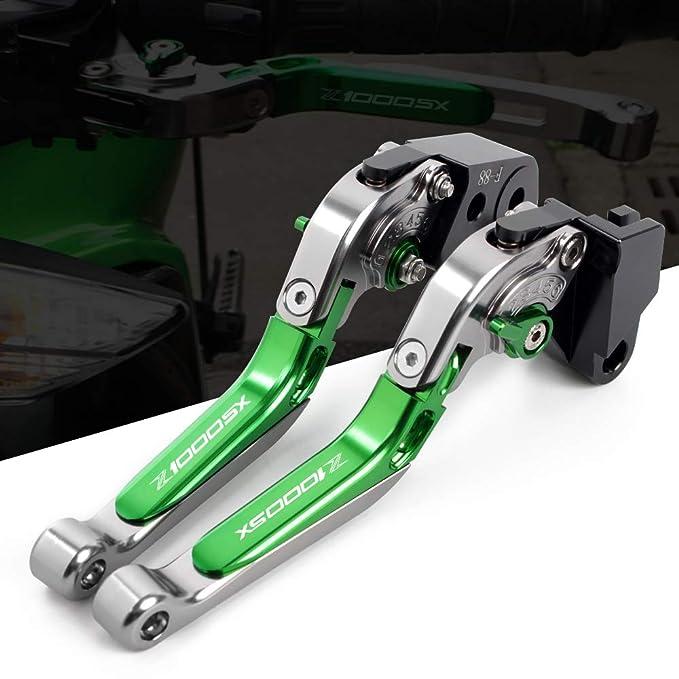 Palanca de freno y embrague para motocicleta CNC, juego de palancas de aluminio, palanca de embrague de freno ajustable, plegable, extensible para ...