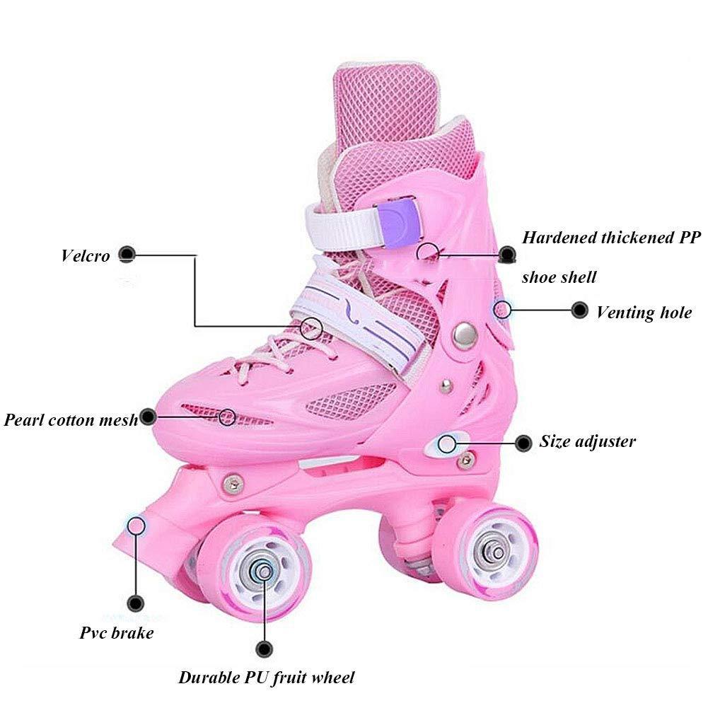 LCPG LCPG LCPG Zweireihig 8 Runden Kinder verstellbar Rollschuhe Kinder Inliner Rollschuhe Roller Blades Räder Flash Kinder Inline Skates Einstellbare Schuhgröße für Mädchen Jungen B07QB2QJXL Inline-Skates & Rollschuhe Berühmter Laden b3af02