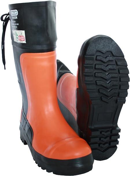 Bottes De Protection Bottes Pour Travail En Forêt Oregon Yukon Taille 38 48 Bottes Bottes En Caoutchouc Chaussure De Foresterie Orange, Größe 43