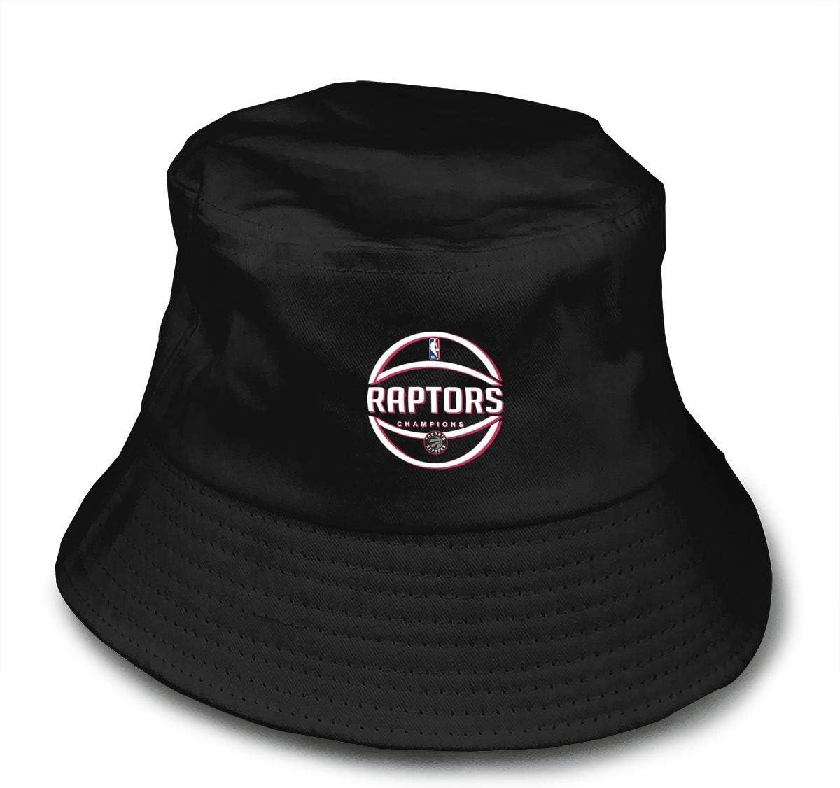 Toronto-Raptors Bucket Hat,Summer Fisherman Cap,Protection Hat Black