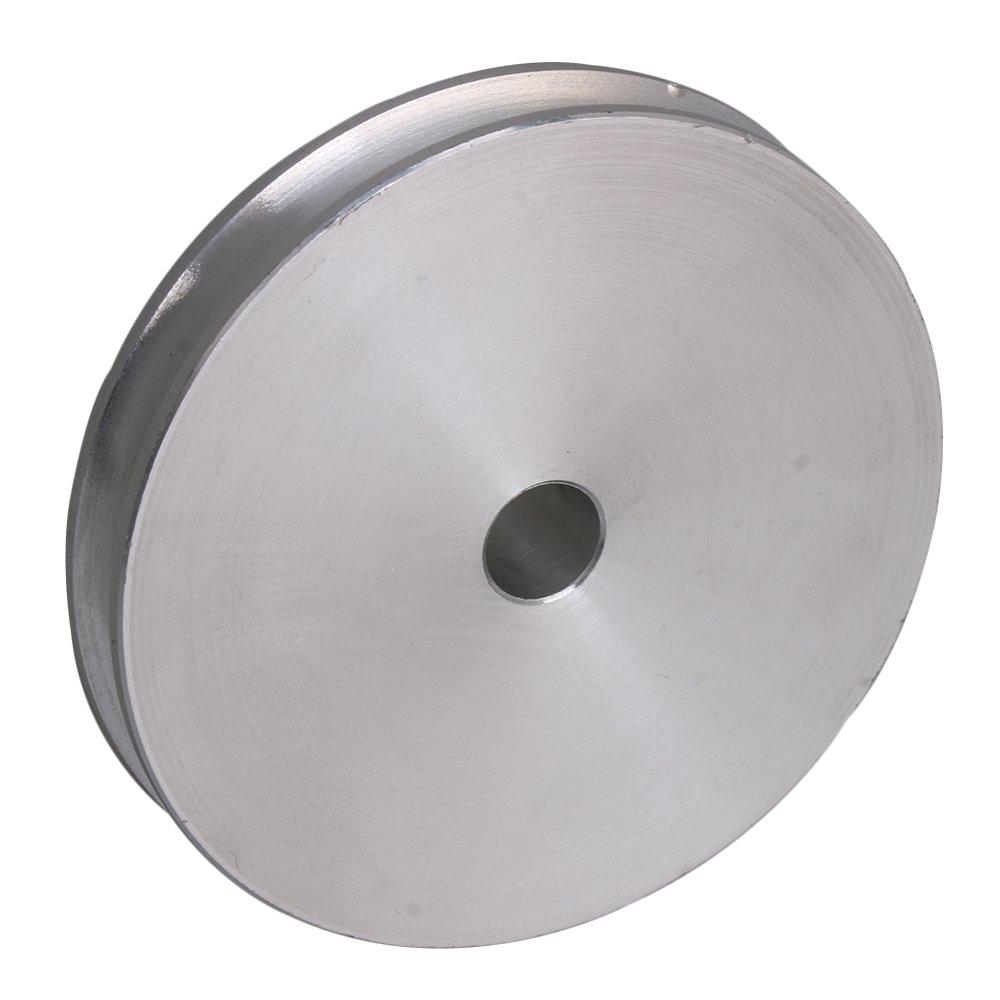 OD x T x ID 3.1x0.15x0.8CM//1.22x0.59x0.31 inch Yibuy Argent Alliage Unique Groove Poulie pour Moteur Shalf Rond Ceinture