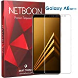 NETBOON Samsung Galaxy A8 (2018) Tempered Glass Screen Protector with Smooth Touch Full Edge to Edge 3D Covered Anti-Glare Anti-Scratch Samsung A8 (2018) - Pure Clear