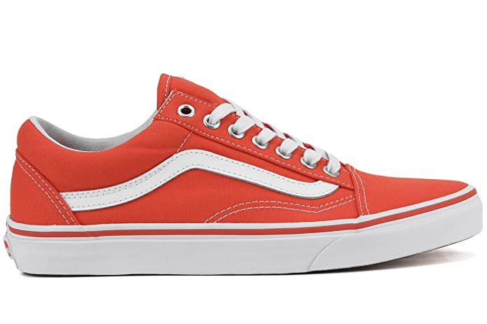 Vans Old Skool Sneakers Unisex-Erwachsene Orange Cherry Tomato