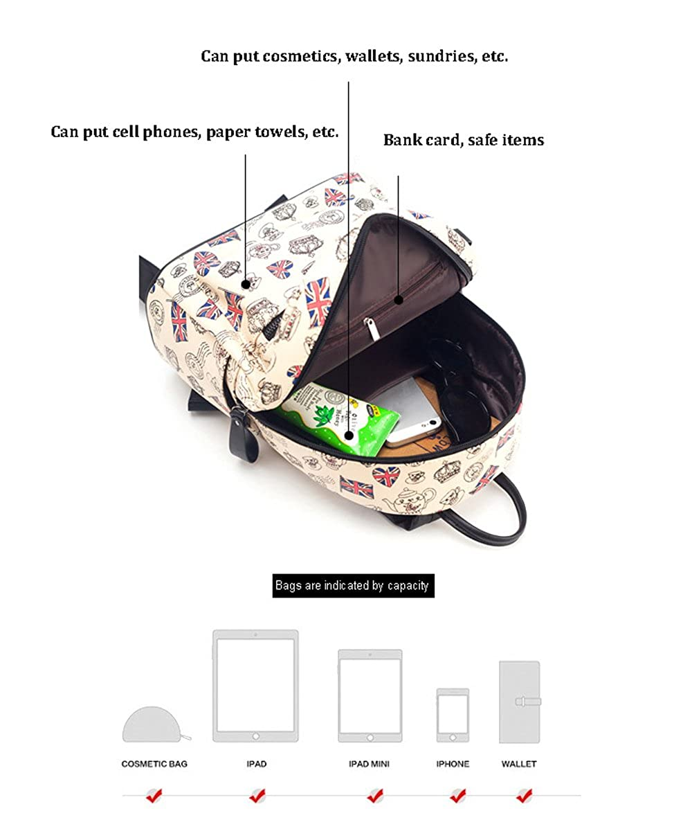 Printable Light and Lightweight Casual Student Shoulder Bag MMPY Outdoor Travel Waterproof Backpack