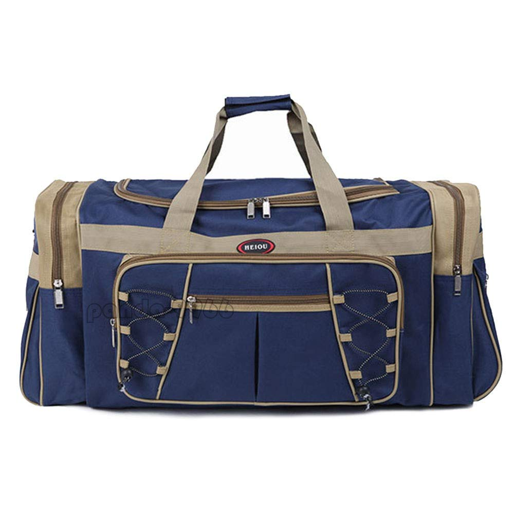 Blue New 26 Heavy Duty Tote Gym Sports Bag Duffle Travel Carry Shoulder Bag Luggage