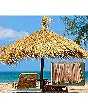 Artificial Thatch,Simulation Thatch Tile Plastic Thatch Pavilion Resorts Fake Grass Tile Palm Thatch Roof Decoration (Color : 4pcs, Size : 50x50cm)