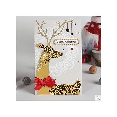 GUYUEXUAN Tarjeta Creativa de felicitación de Navidad de ...