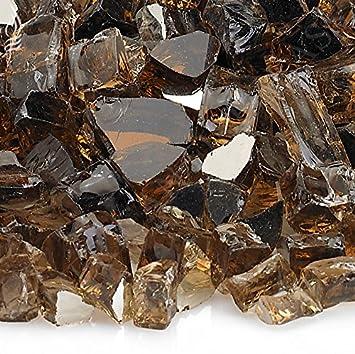 american fireglass 10pound reflective fire glass with fireplace glass and fire pit glass - American Fireglass