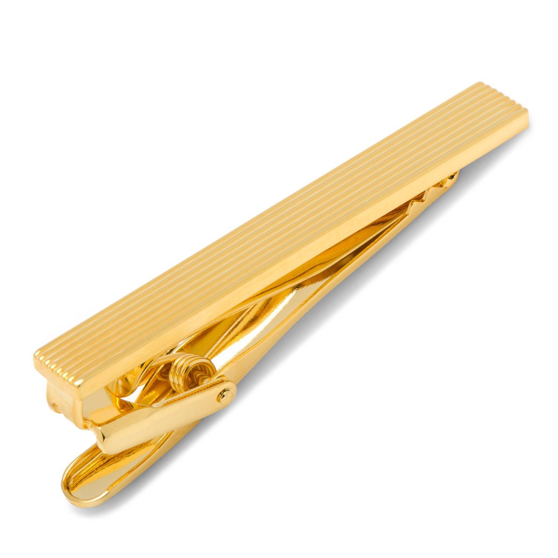 CUFFLINKS INC Gold-Tone Pinstripe Tie Clip (Gold-Tone)